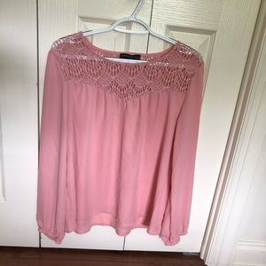 Simply Styled by Sears Pink Crochet Blouse